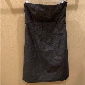 Theory A-line strapless metallic dress